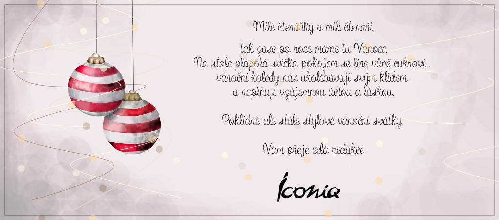 Stylové Vánoce přeje Iconiq.cz
