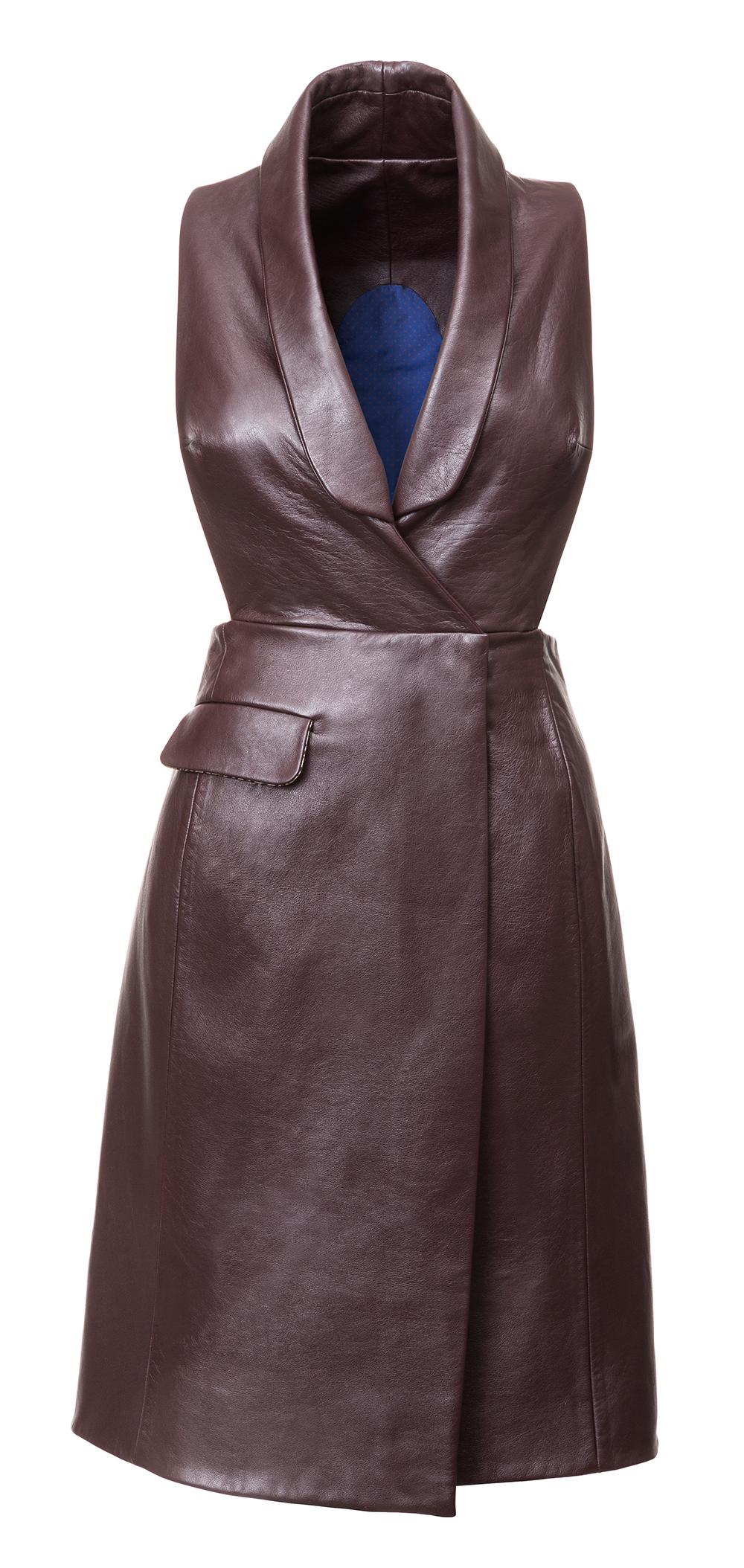 15 700,- Kožené šaty- vesta