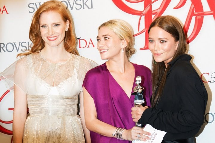 Jessica Chastain Ashley Olsen Mary Kate Olsen