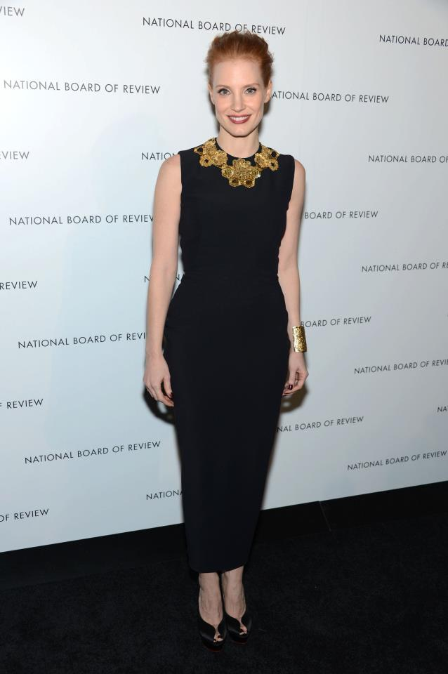 Jessica Chastain v šatech z kolekce jaro-léto 2013