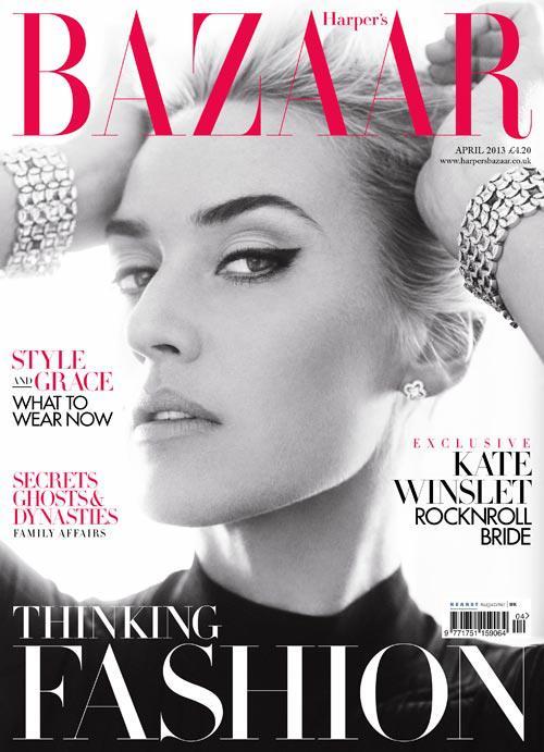 Britské vydání Harper´s Bazaaru s Kate Winslet na titulce