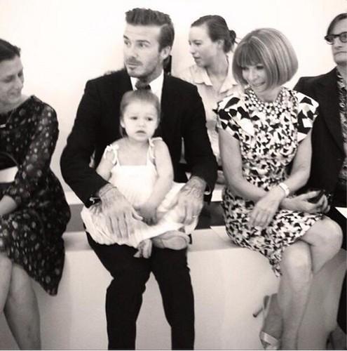 Anna Wintour a Harper Seven Beckham