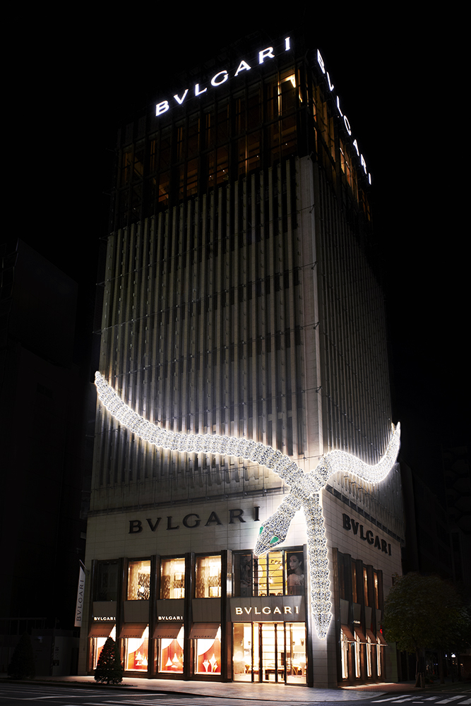 Ginza Tower Serpenti Facade Green Eyes_FNL