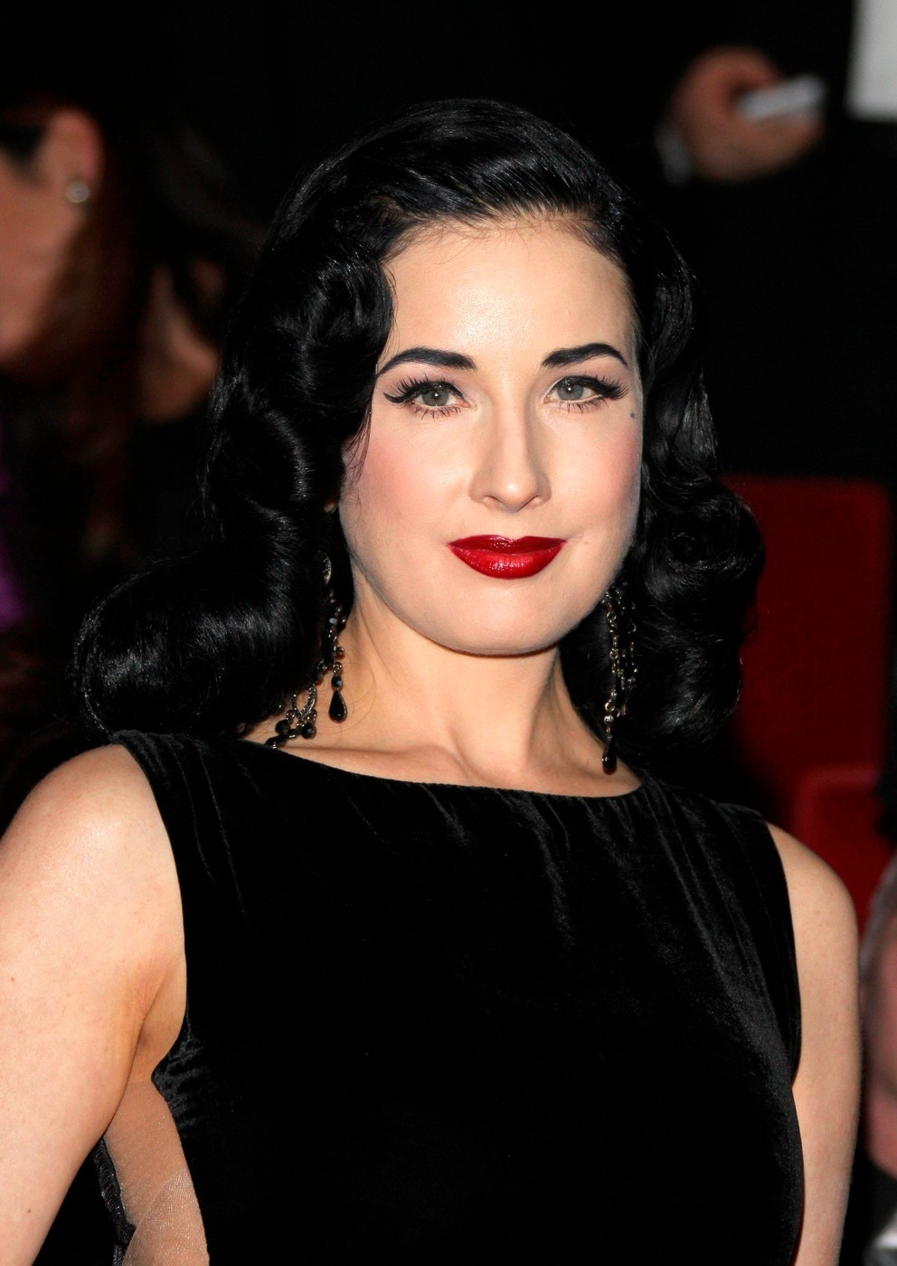DITA VON TEESE attends the premiere of ''The Phantom of the Opera'' in Hamburg