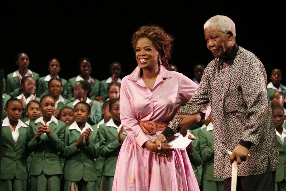 Oprah Winfrey a Nelson Mandela
