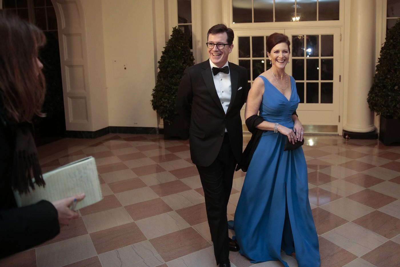 Stephen Colbert a jeho žena Evie