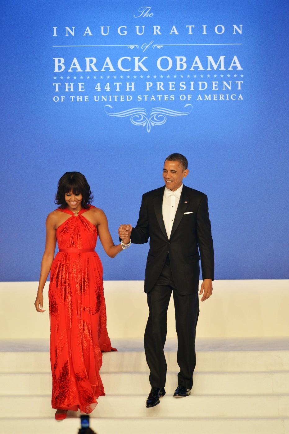 Michelle Obama v šatech Jason Wu