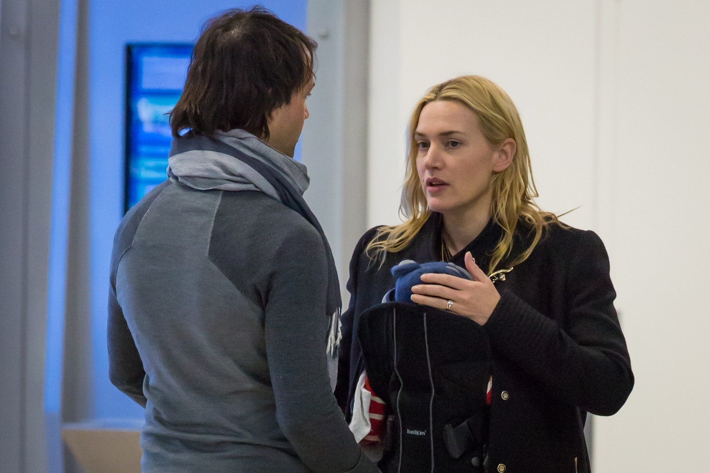 EXCLUSIVE Kate Winslet and husband Ned Rocknroll arrive at Newark Liberty International Airport