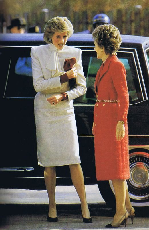 Diana a Nancy Reagan