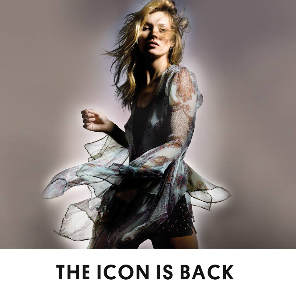 Kate Moss v modelu Topshop