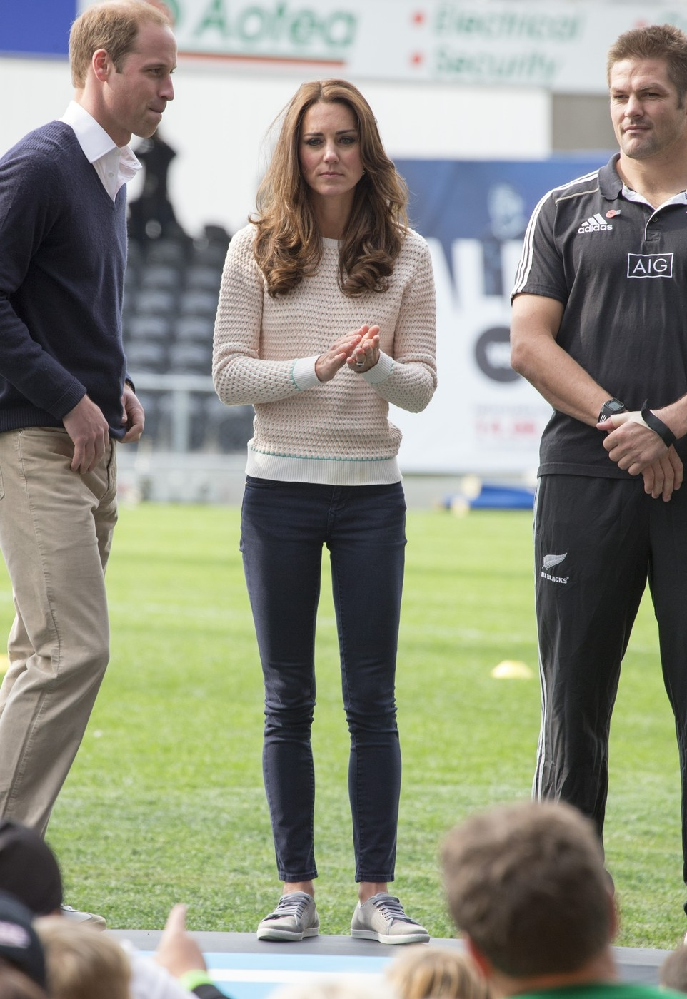 The Duke and Duchess of Cambridge at the Rippa rugby event in Dunedin