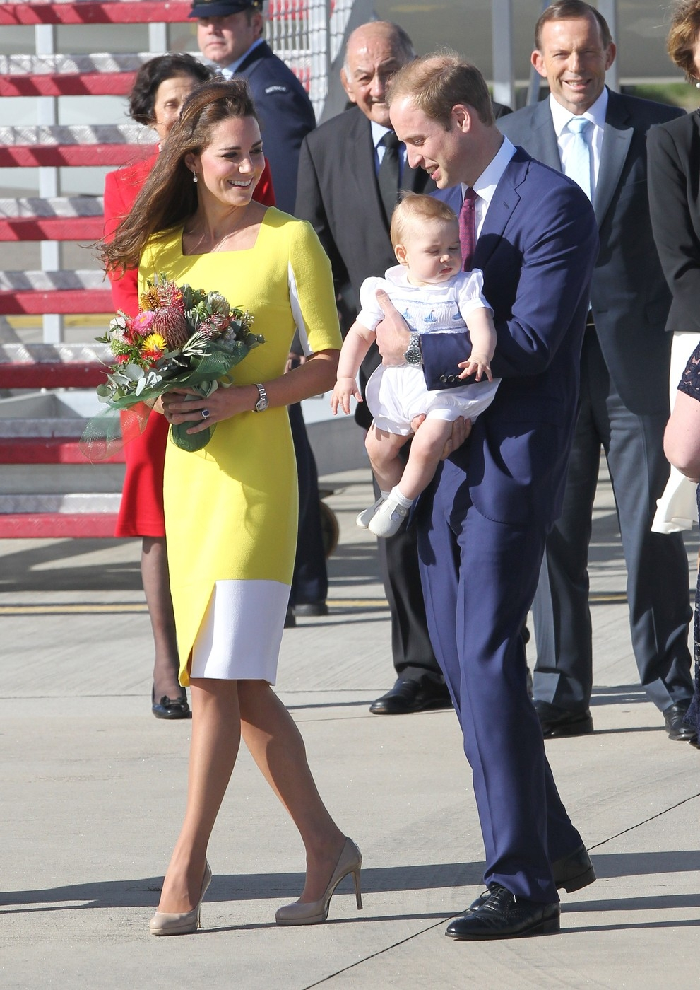 Prince William, Duke of Cambridge and Catherine, Duchess of Cambridge, Kate Middleton, Prince George of Cambridge Arrive At Sydney Airport