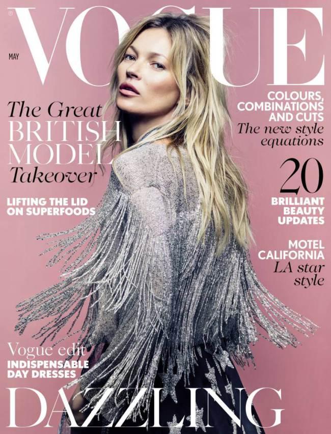 Kate Moss se ve svém modelu představí na titulní stránce britského vydání Vogue