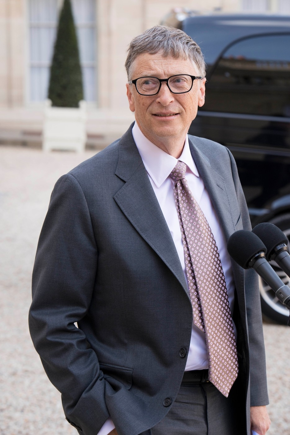 Bill Gates at the Elysee Presidential Palace