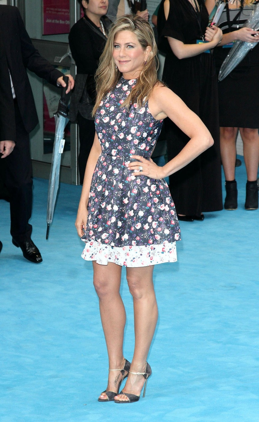 London, UK. 14th August 2013. Jennifer Aniston at the 'We're The Millers' UK Premiere at the Odeon West End, Leicester Square, London - August 14th 20