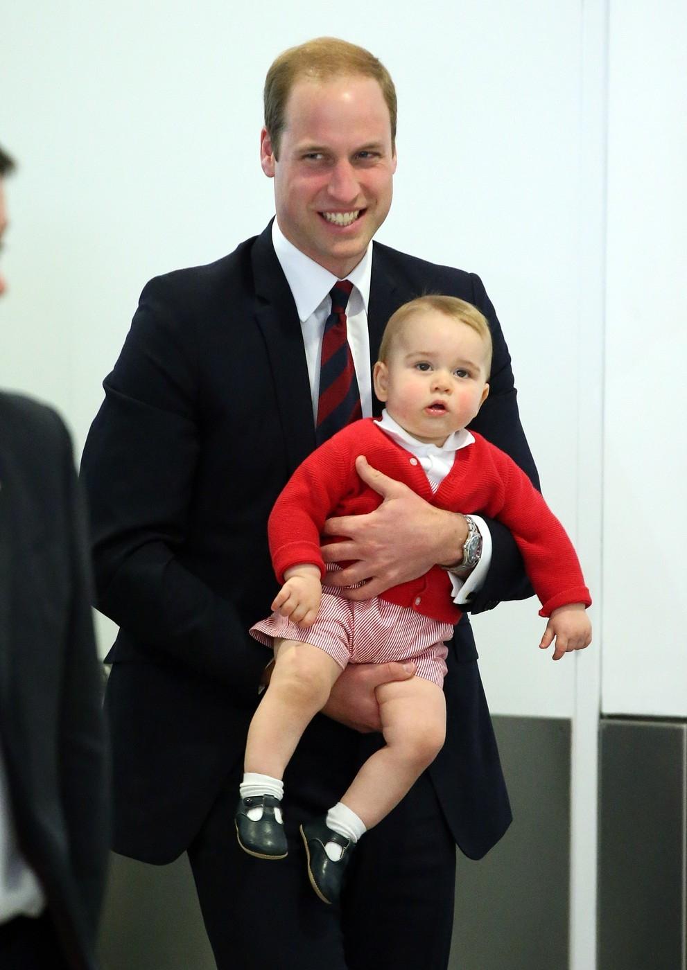 Princ William a jeho syn George