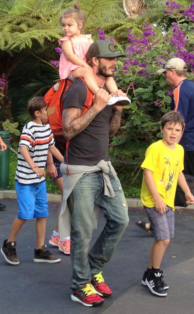 David Beckham s dětmi