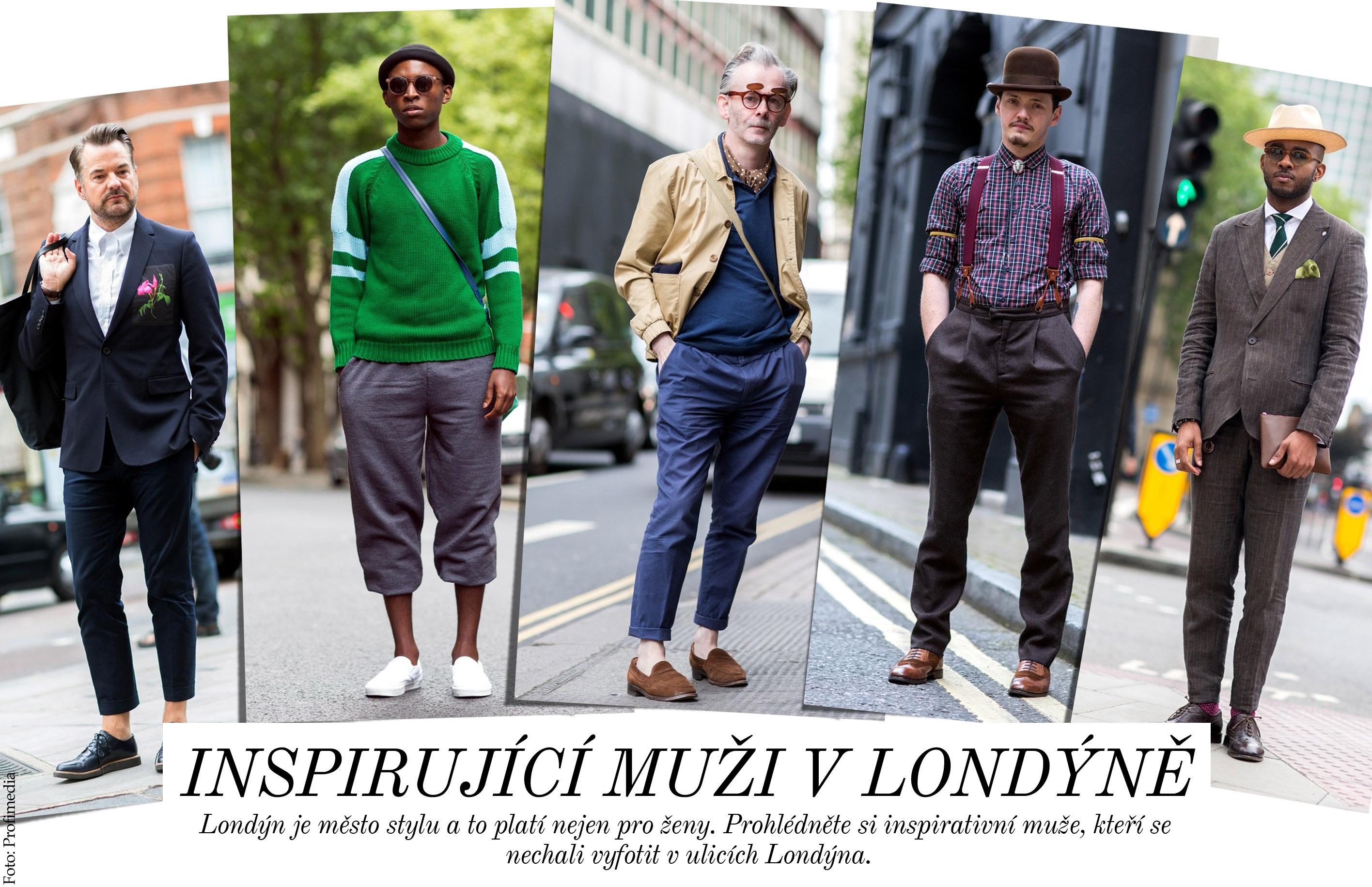Inspirující muži v Londýně
