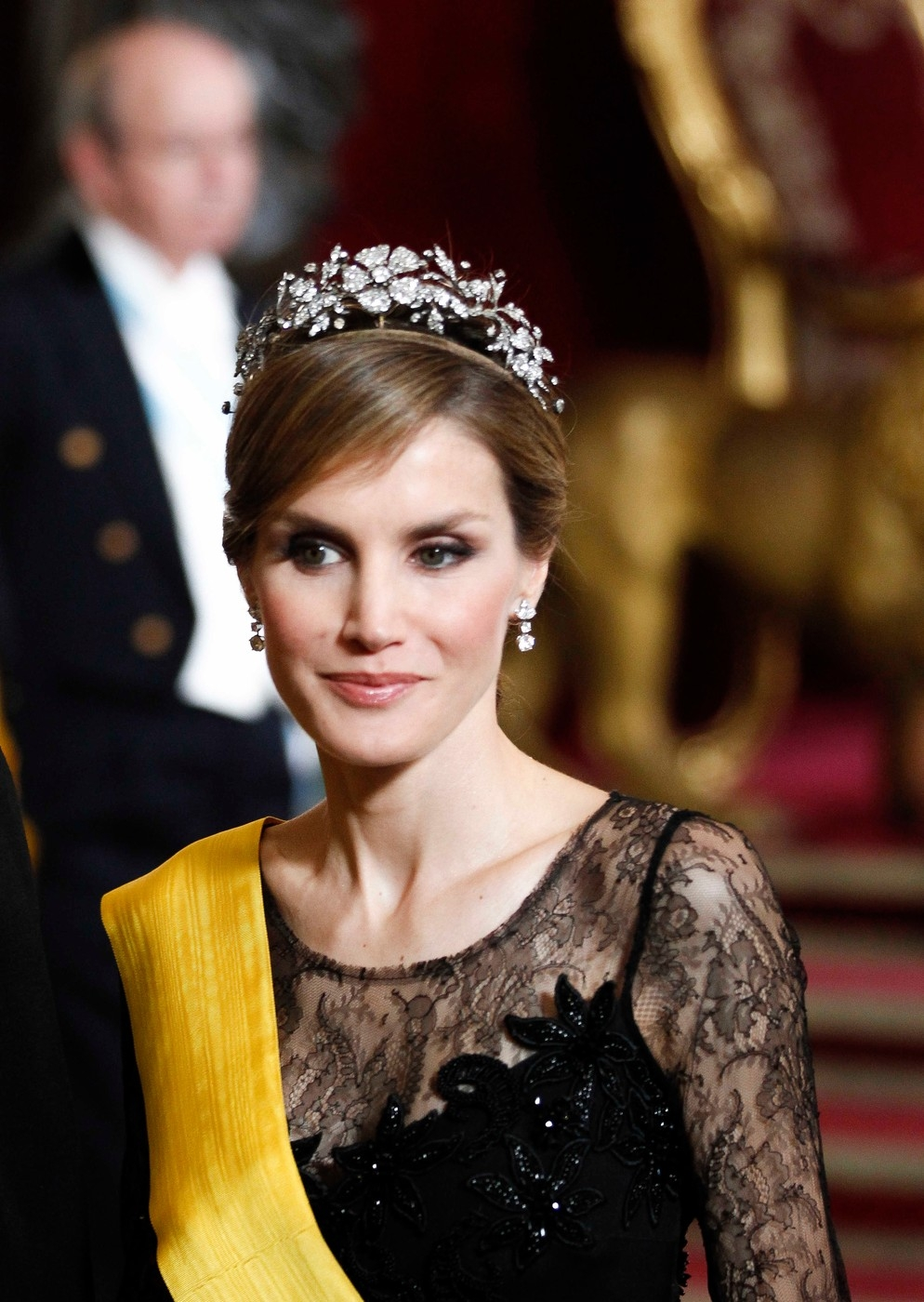 King juan Carlos I of Spain, Queen Sofia of Spain and Spanish Asturias Princes Felipe and Letizia give a Gala Dinner to the Unite States Mexican Prime
