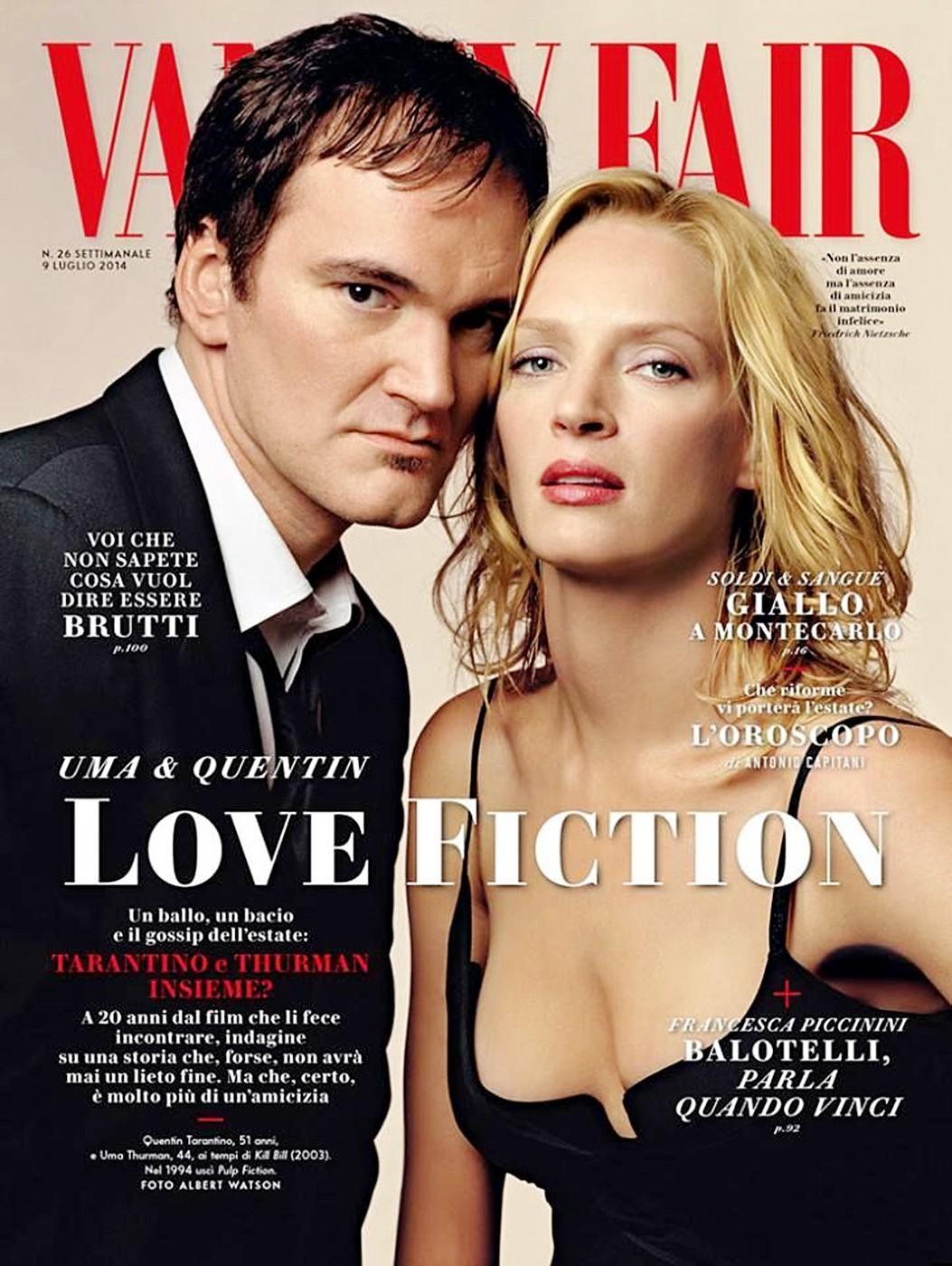 Uma Thurman and Quentin Tarantino in Vanity Fair Italy July'14.