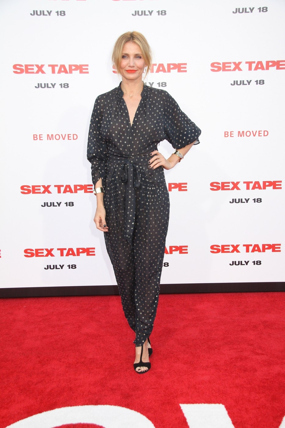 "Cameron Diaz at The World Premiere of ""Sex Tape"" held at The Regency Village Theatre on July 10, 2014 in Westwood, California."