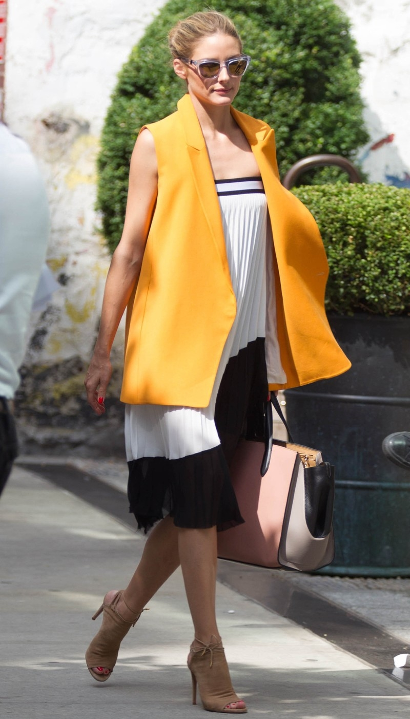 Olivia Palermo Spotted Leaving Saint Ambroues Restaurant