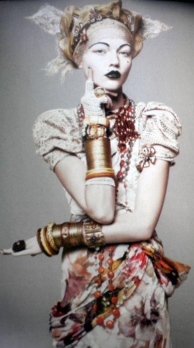 Sasha Pivovarova pro Vogue US