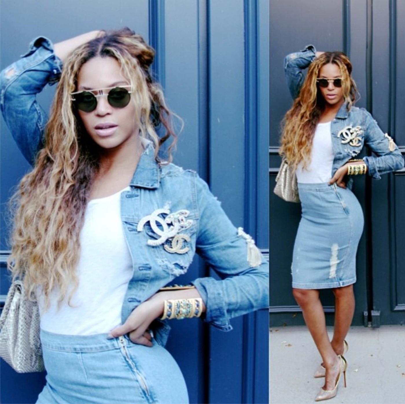Beyonce posts a series of Selfies
