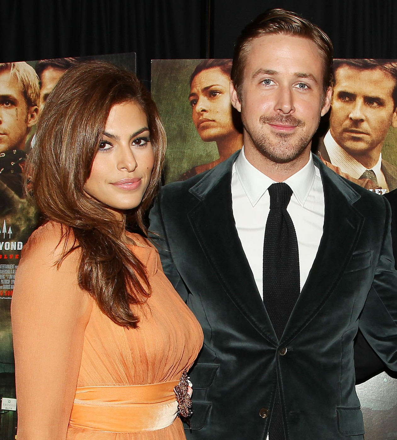 Eva Mendes and Ryan Gosling at The Place Behind The Pines Premiere