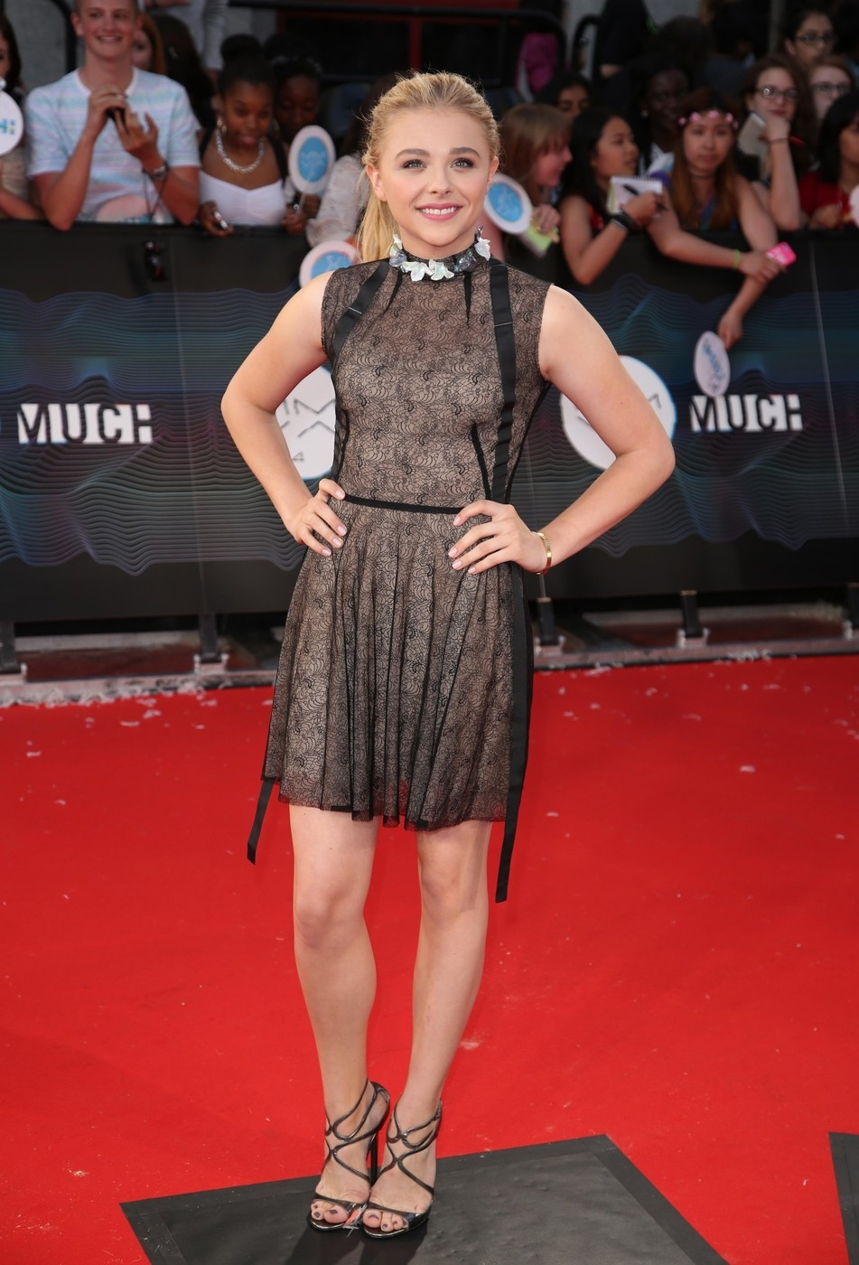 Chloe Grace Moretz walks the red carpet at the MuchMusic Video Awards in Toronto