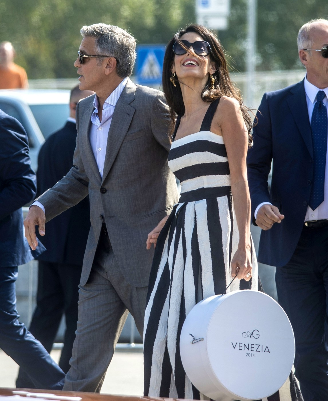 George Clooney & Amal Alamuddin Arrive In Venice Ahead Of Wedding