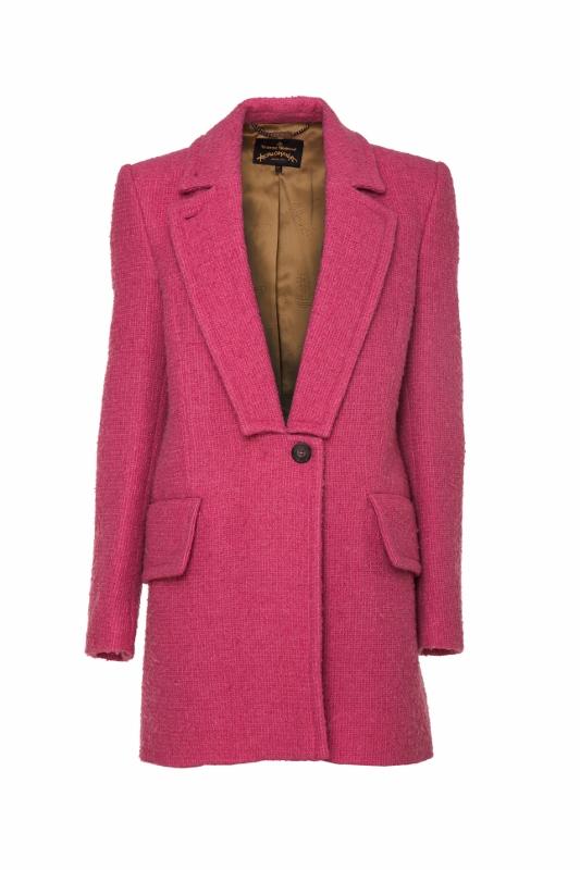 Kabát Vivienne Westwood. Původní cena 17 390 Kč, po slevě 8695 Kč.