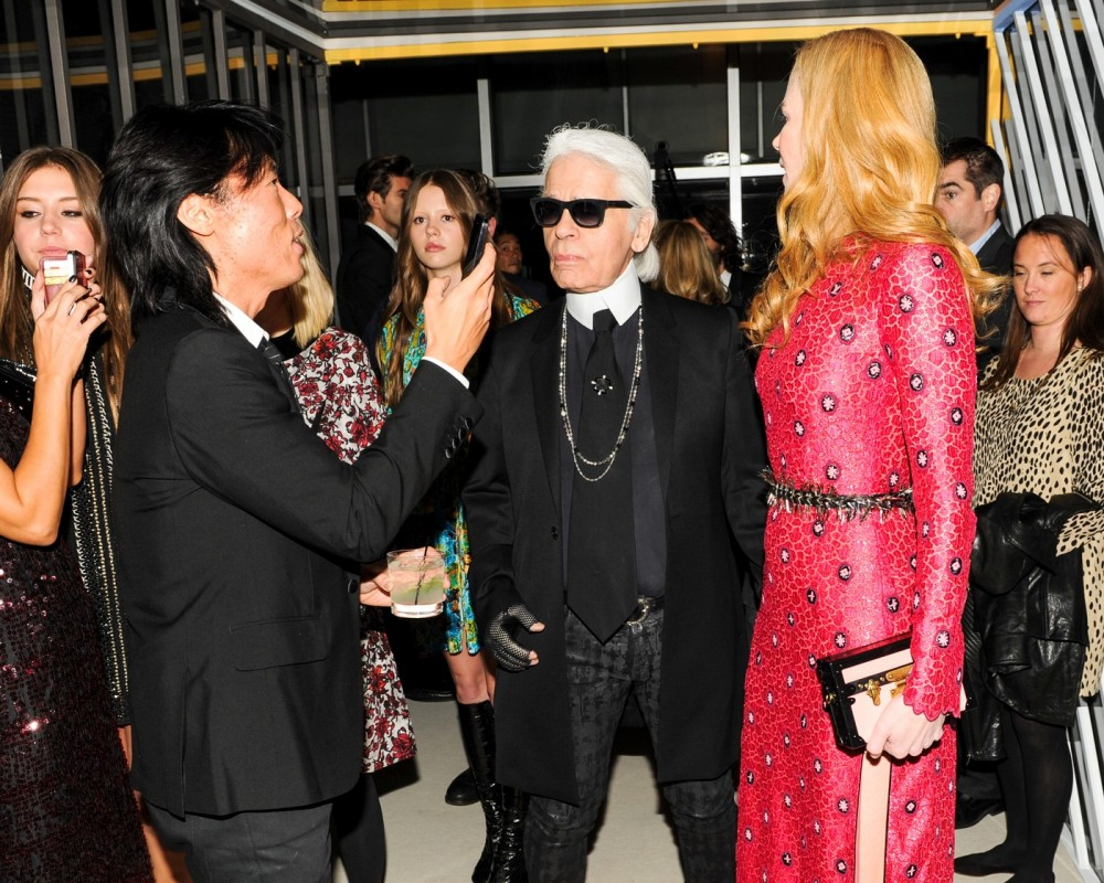 Stephen Gan, Karl Lagerfeld, Nicole Kidman