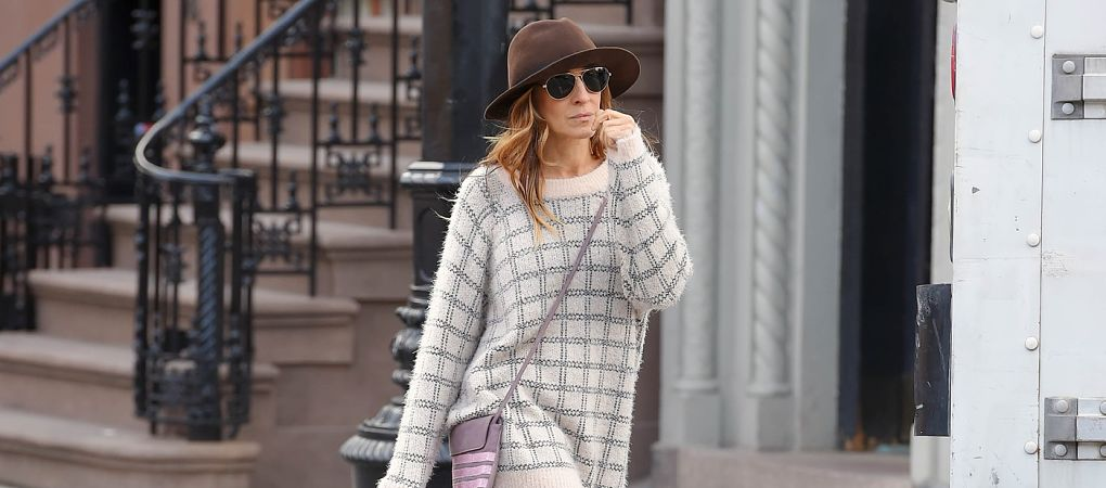 MANHATTAN, NY -  NOVEMBER 07, 2014: Sarah Jessica Parker seen out in East Village on NOVEMBER 07, 2014 in New York City, New York