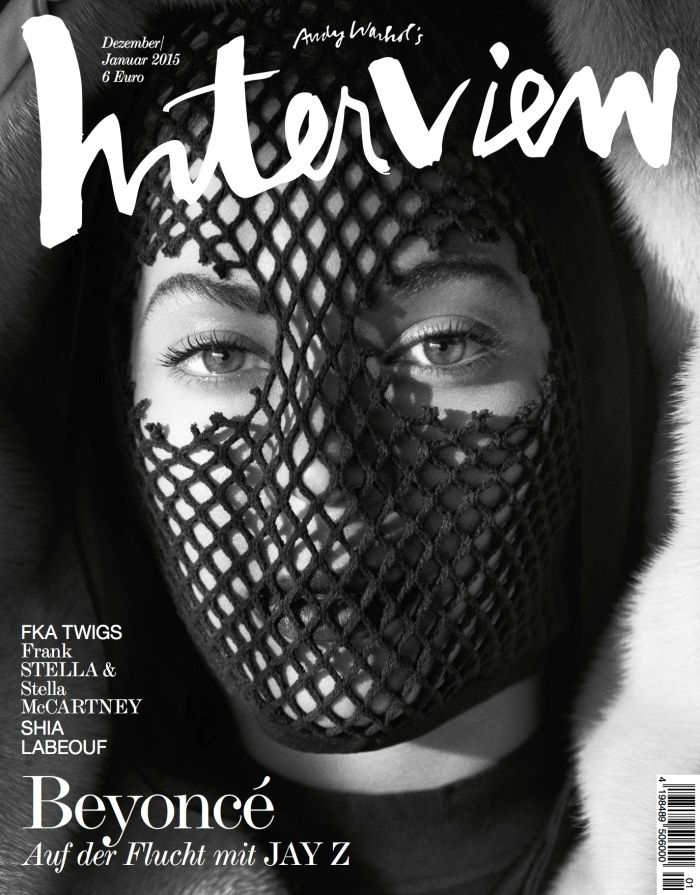 Beyonce Gets Masked for Interview Germany December January 2015 Cover