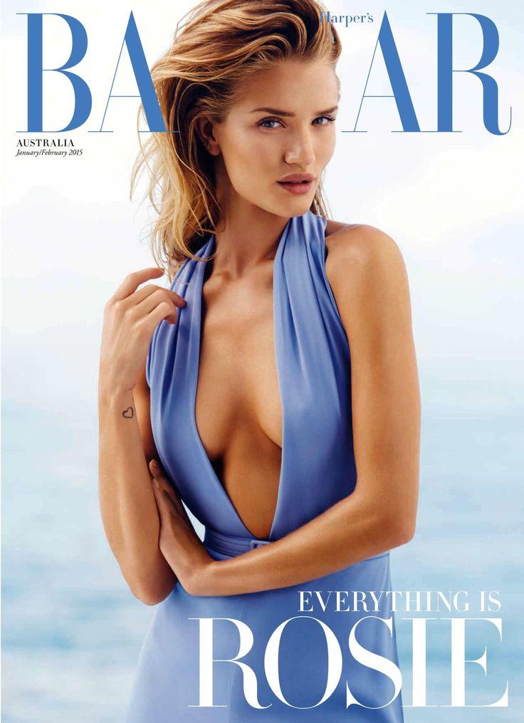 Harper's Bazaar Austrália Janeiro 2015 Rosie Huntington-Whiteley