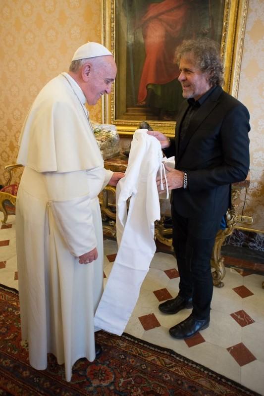 Papež František a Renzo Rosso