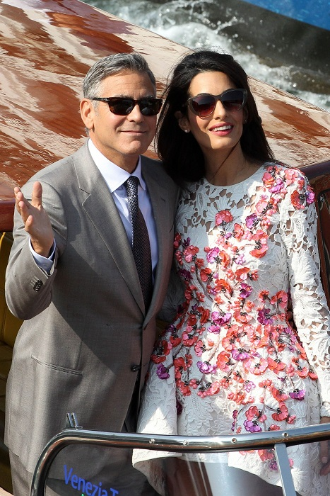 NEWLYWEDS GEORGE CLOONEY AND AMAL ALAMUDDIN IN VENICE!