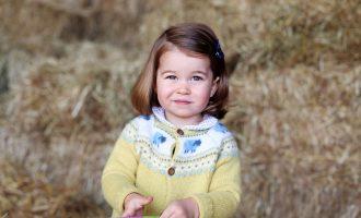 2 roky britské princezny Charlotte