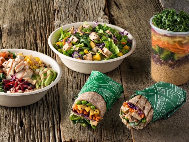 Fast Food Restaurant Salads Healthiest