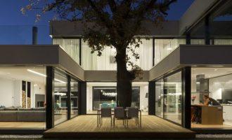 Dům ukrytý mezi korunami stromů