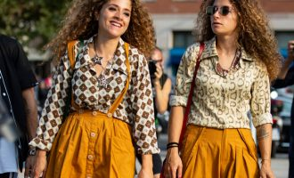 Street style z Milan Fashion Week: Trendy a basic outfity po italsku